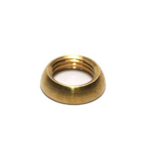 Solid Brass Ring Nut Bevelled Edge M10 x 1mm Pitch Pack of 5